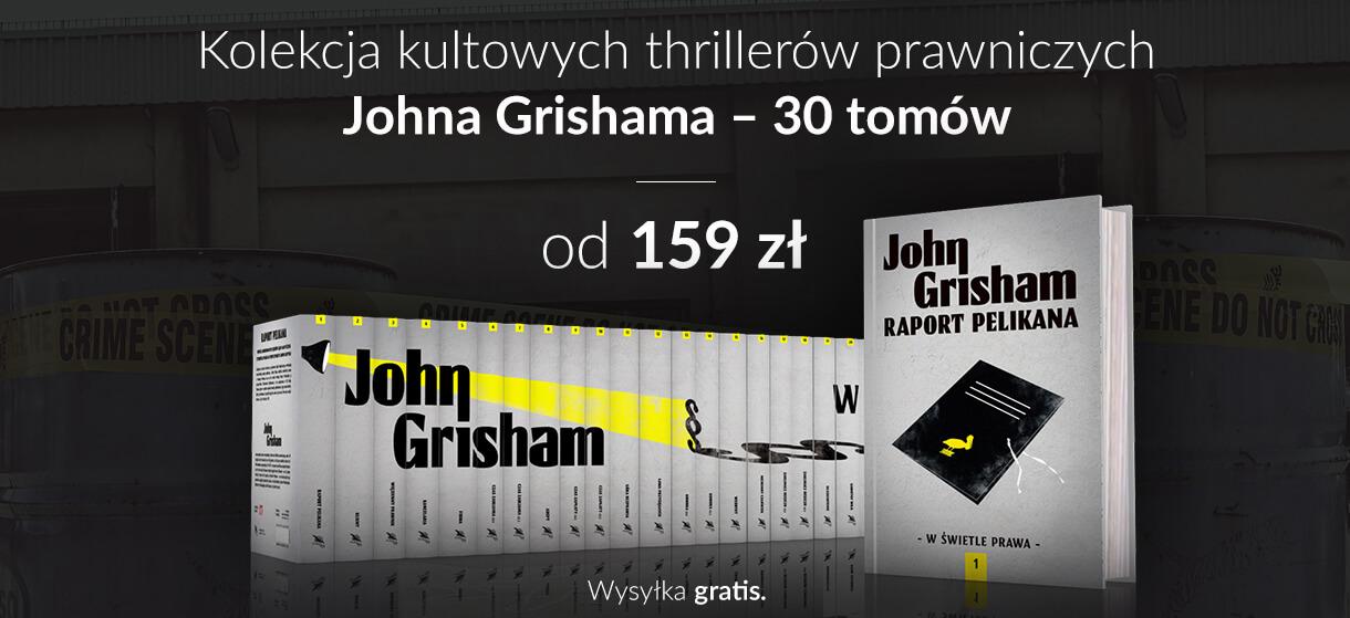 """Oczytany poleca: Kolekcja ,,W świetle prawa"""" – Johna Grishama."""